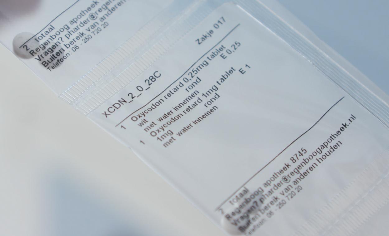 Afbeelding van Verslavende pijnstiller oxycodon; afkicken of doorslikken?