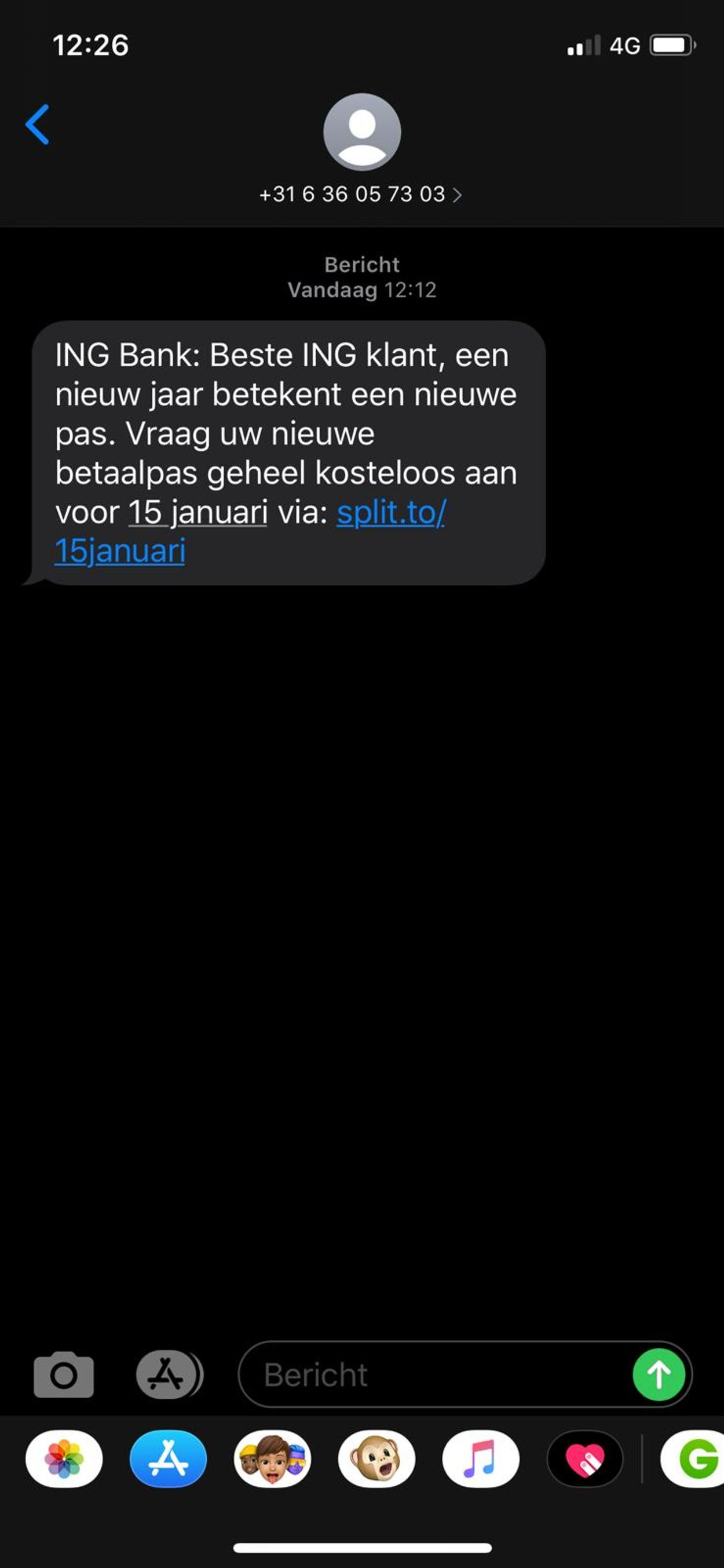 ING sms phishing