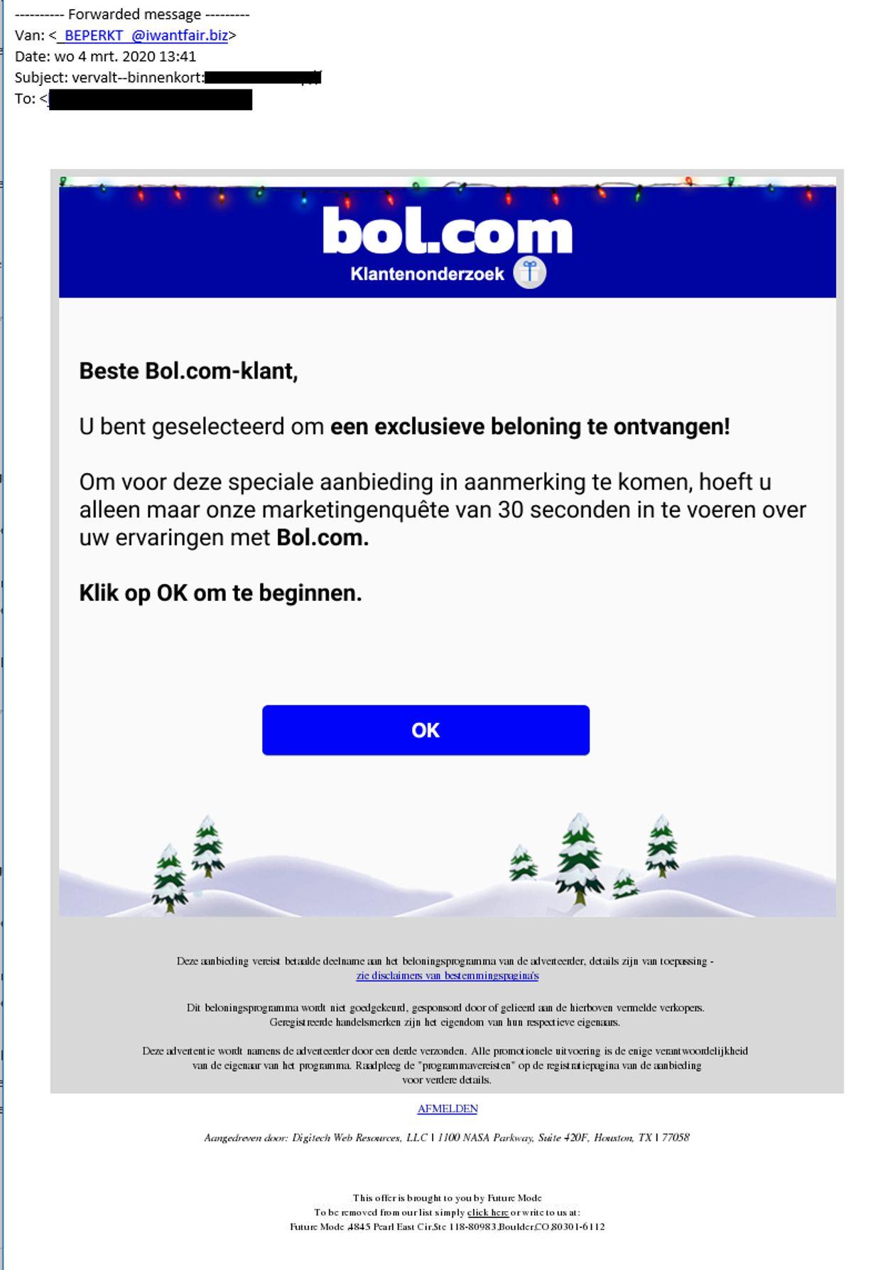 bol com nepactie spam