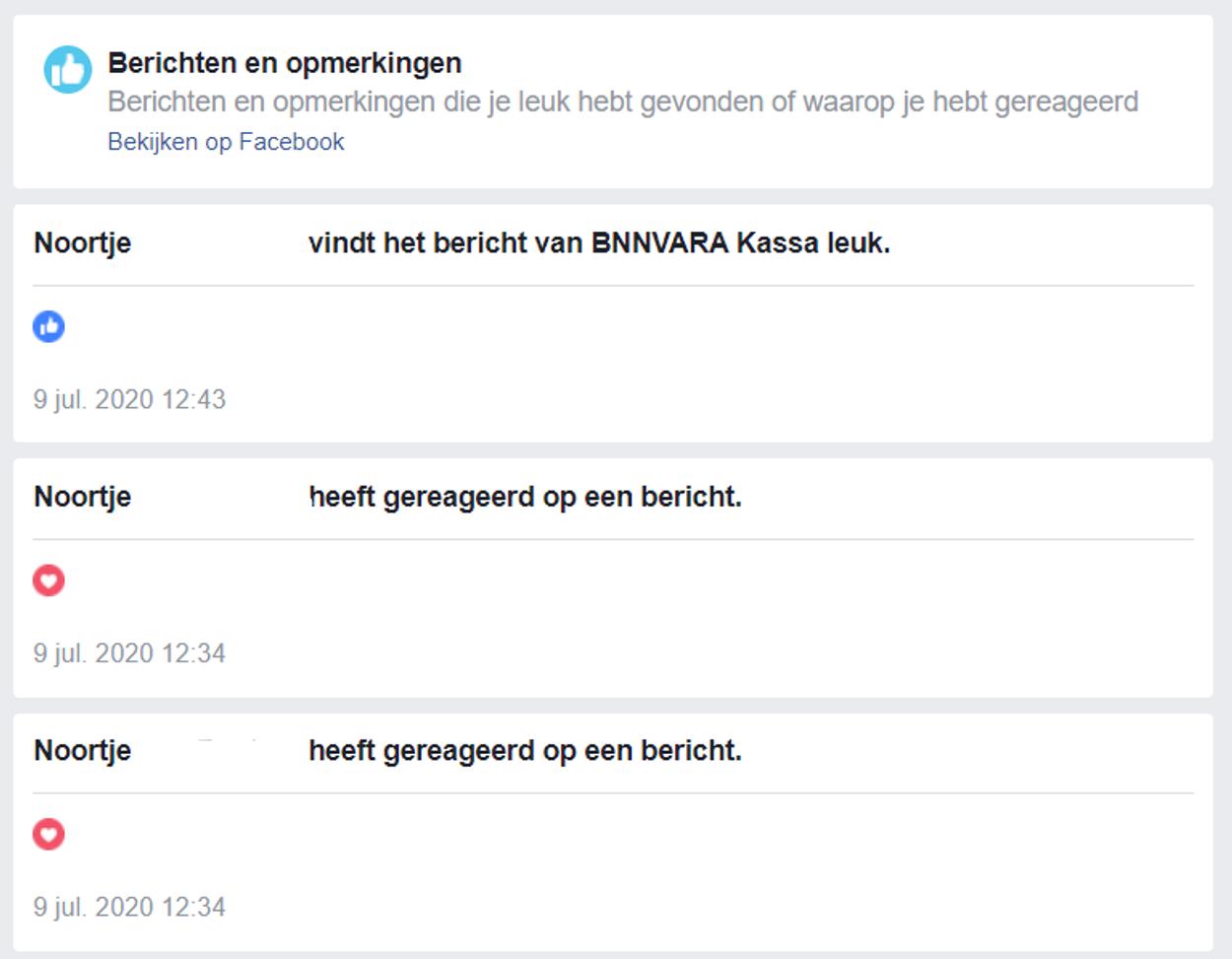 facebook gegevens