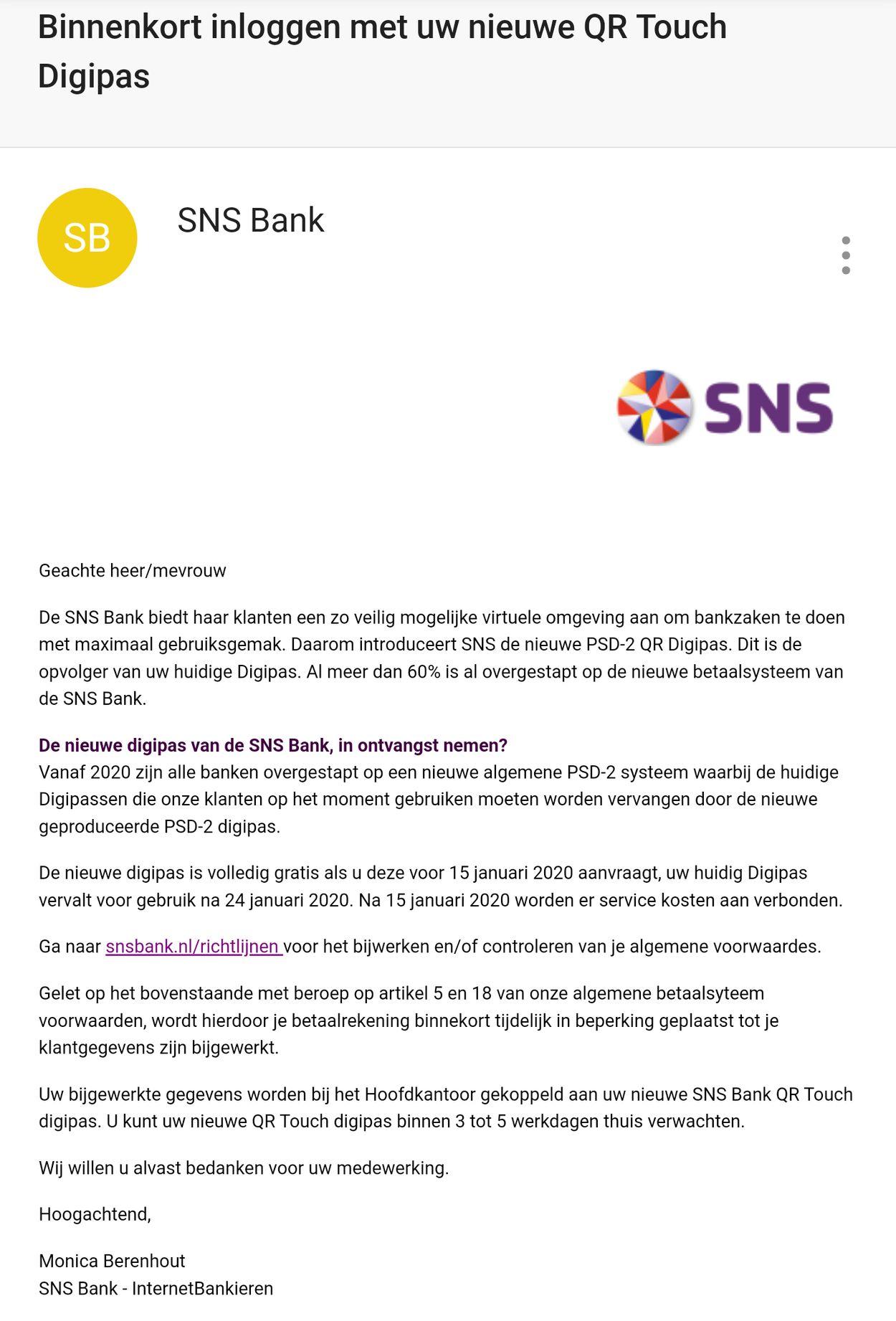sns bank qr phishing