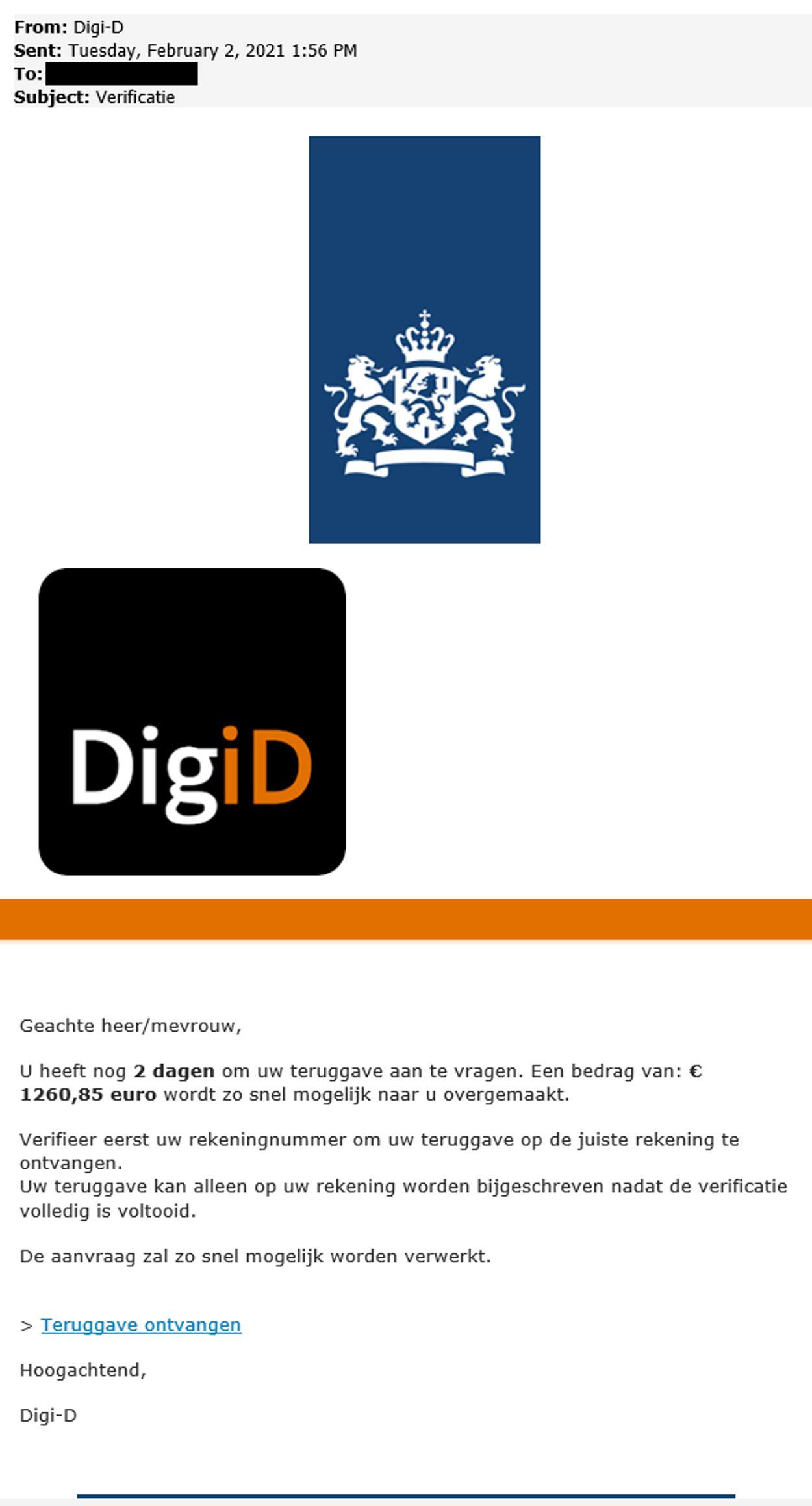 digid phishing verificatie