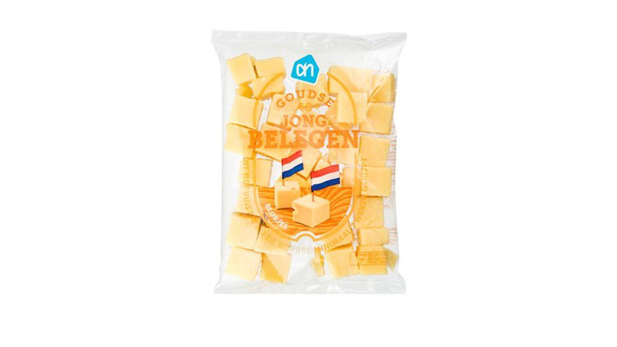 Afbeelding van Albert Heijn waarschuwt voor salmonella in blokjes kaas