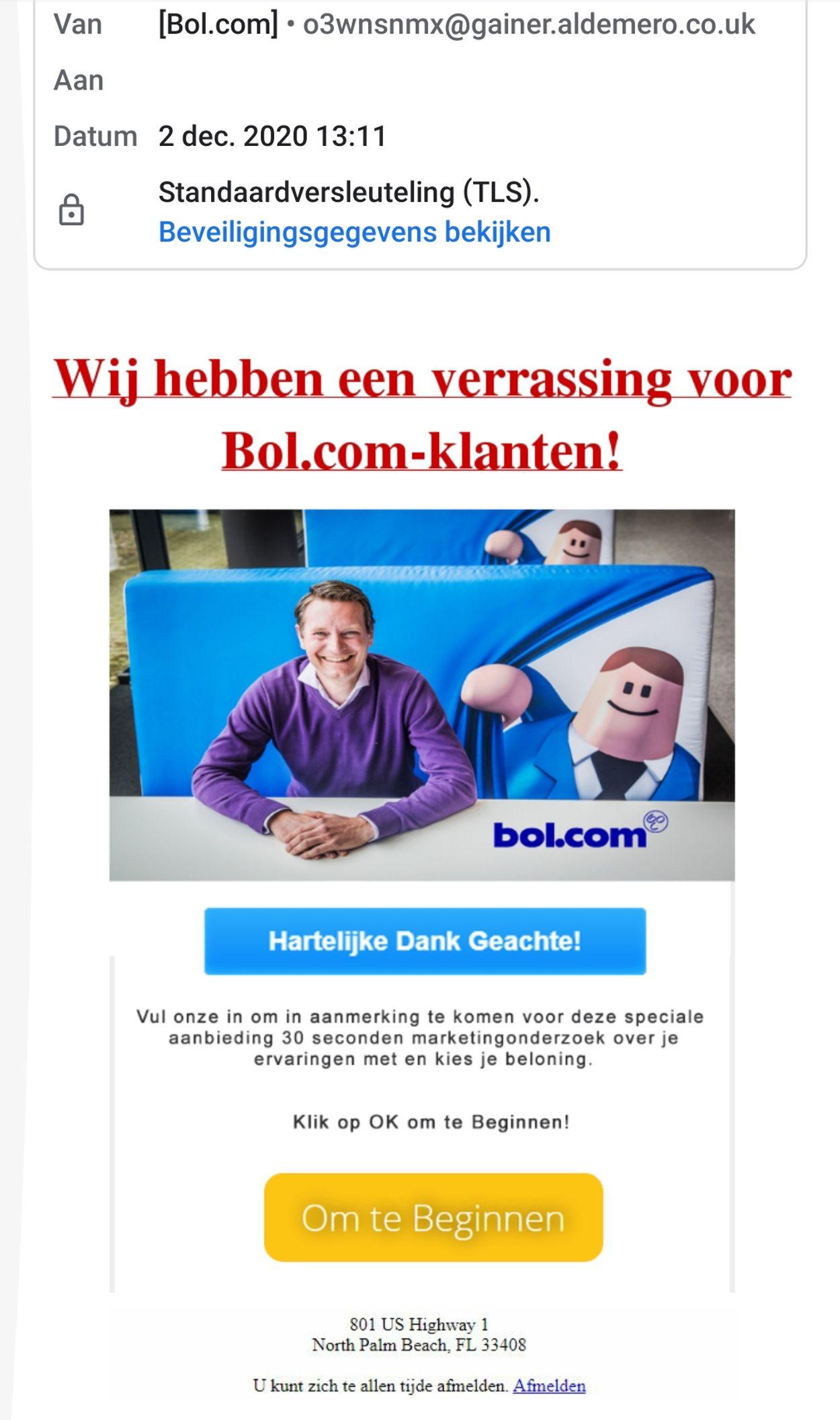 bol.com phishingmail december 2020