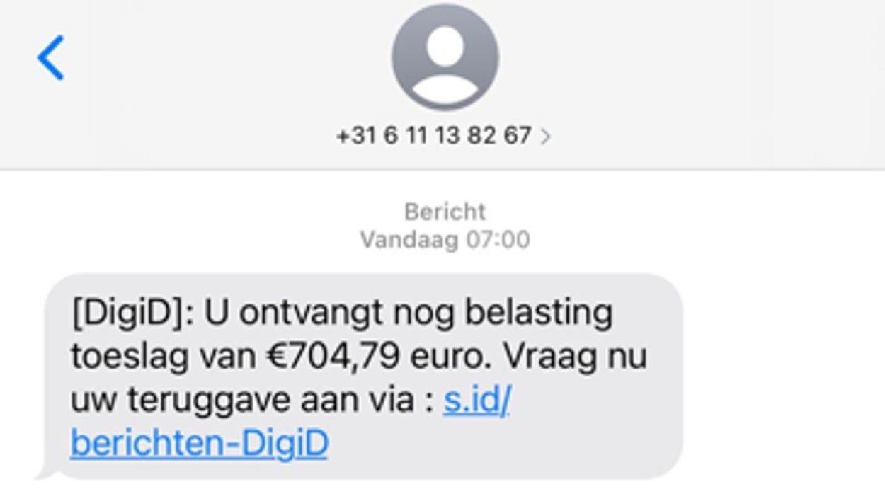 sms Digid toeslag