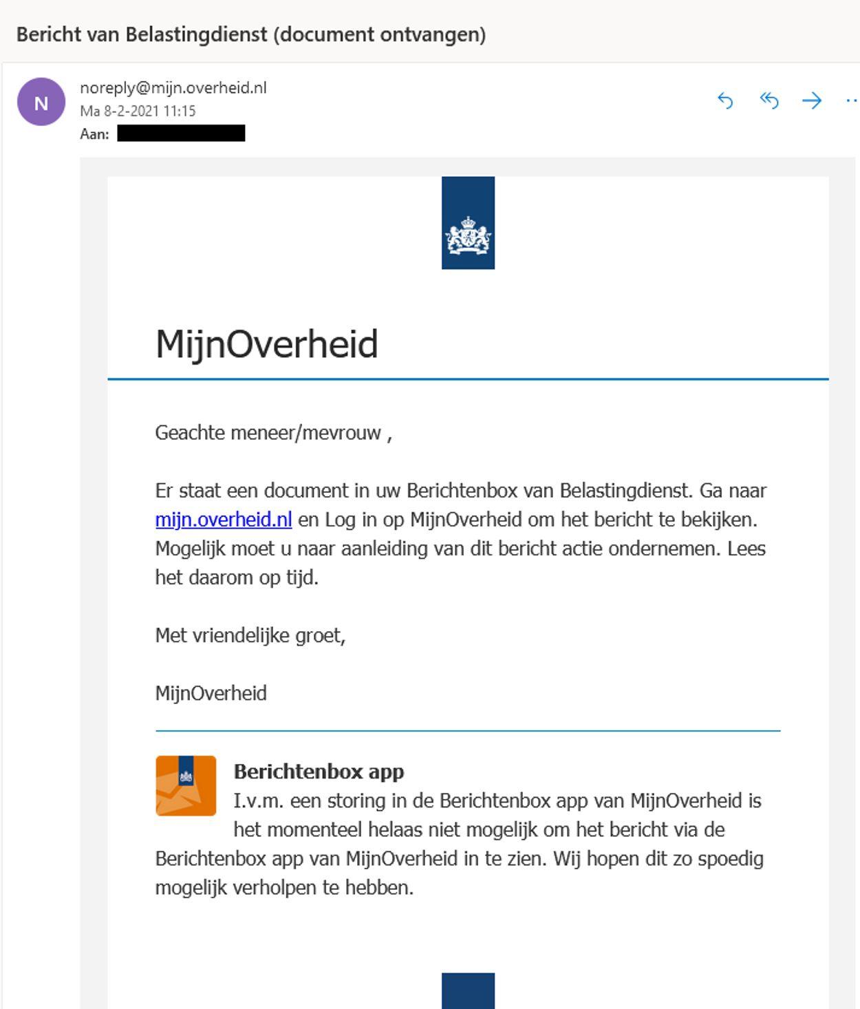 Bericht-van-belastingdienst phishing