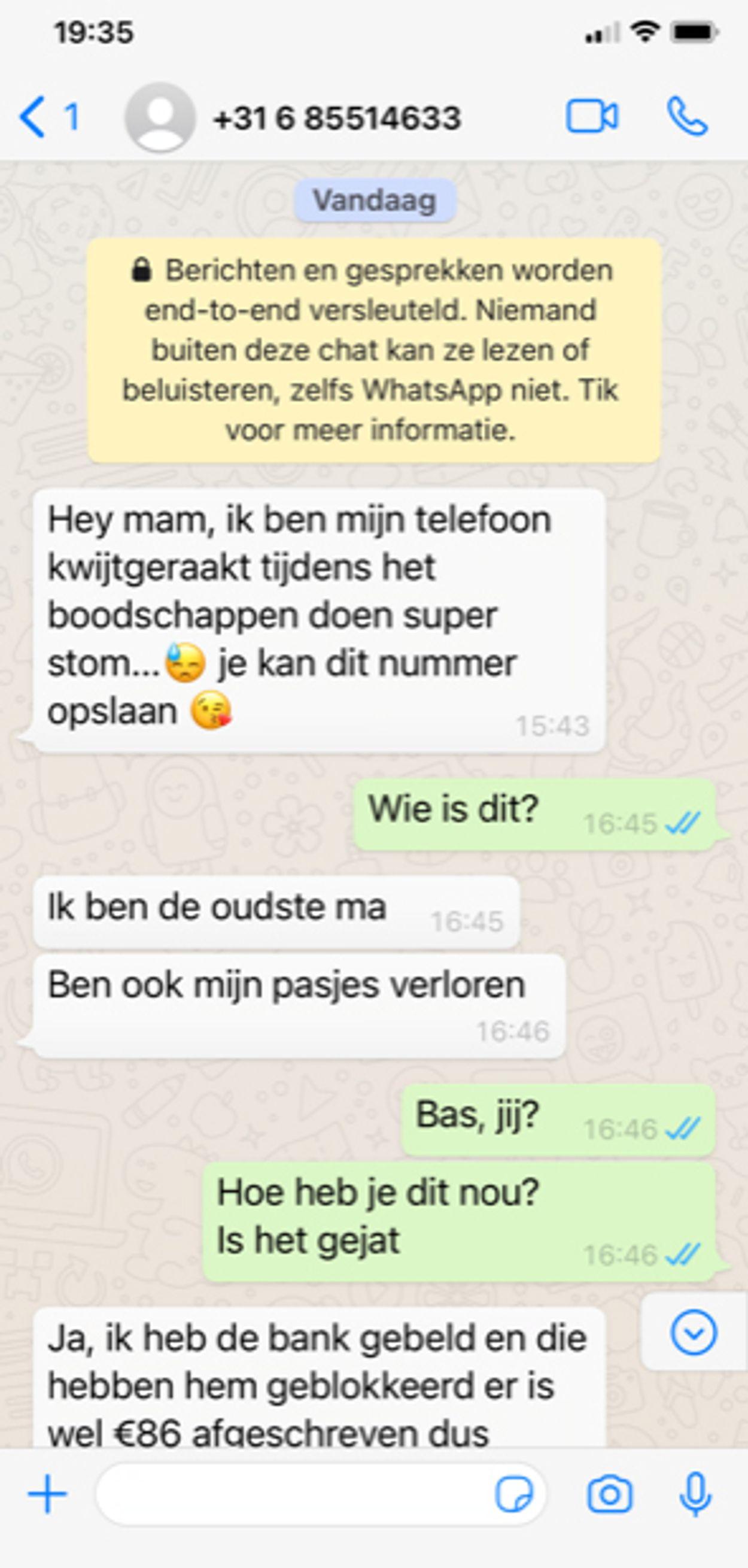 whatsappfraude juni 2021