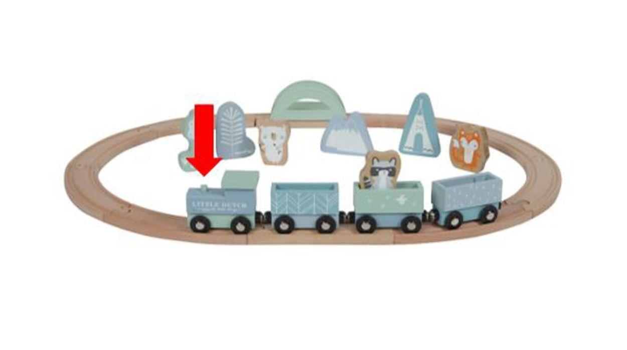 Afbeelding van NVWA waarschuwt voor houten locomotief voor kinderen