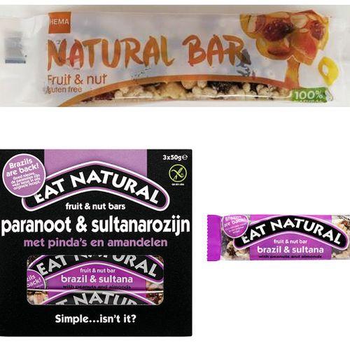 Afbeelding van Fruit- en notenrepen teruggeroepen vanwege salmonella