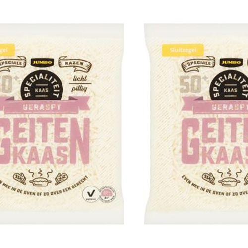 Afbeelding van Productwaarschuwing Jumbo: koemelk in geraspte geitenkaas