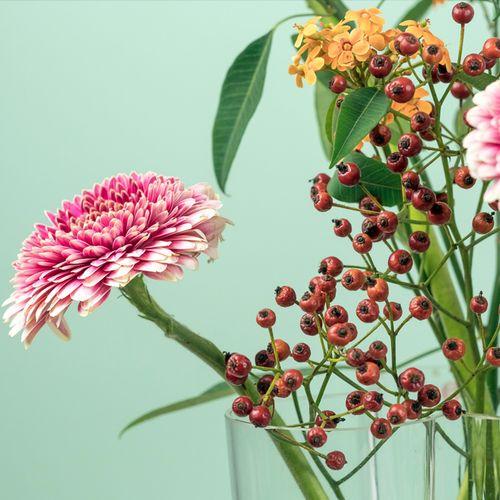Hoe lang mag bos bloemen blijven staan voordat deze verwelkt?