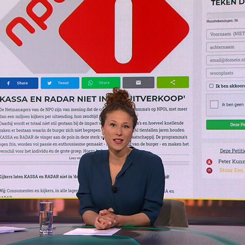 Afbeelding van Petitie 'Kassa en Radar NIET in de uitverkoop' massaal gesteund